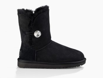 Bottes UGG Bailey Button Bling Femme Boots Classic BLACK kXZOPiu